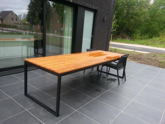 houten tuintafel maken bouwinfo