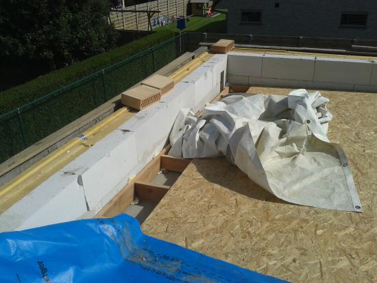 Vraag opbouw plat dak bouwinfo