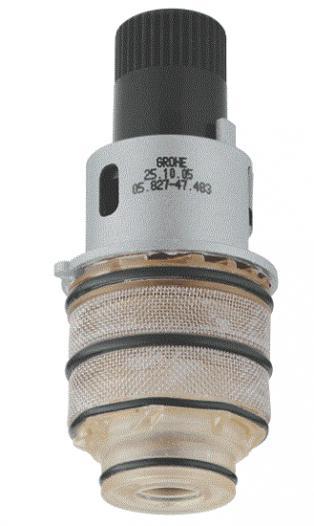 Zeer thermostatisch element Grohe Rapido T vastgekalkt | Bouwinfo IB48