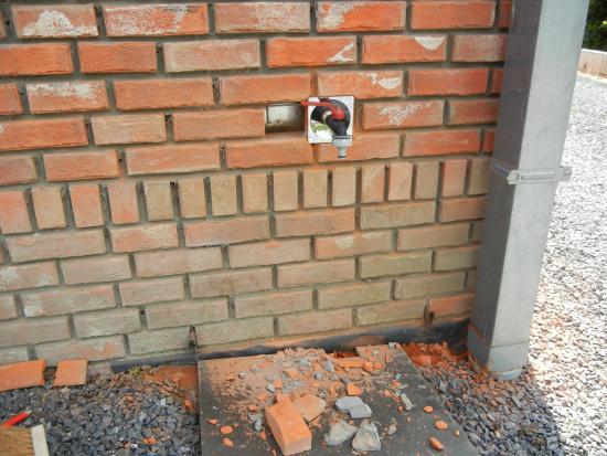 Installatie buitenkraan bouwinfo - Buiten muur kraan decoratieve ...