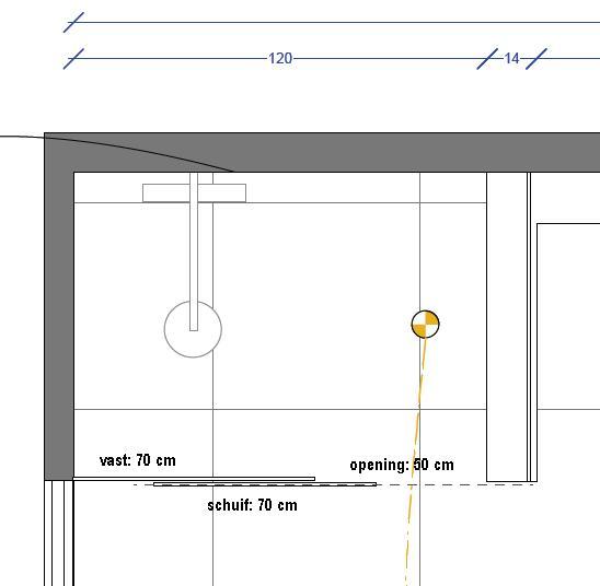 Bekend Afmetingen inloopdouche - lengte glazen wand ? | Bouwinfo CP98