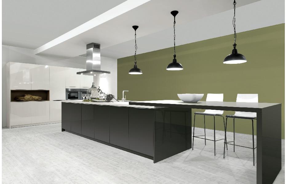 Moderne keukens bouwinfo - Keuken met bar tafel ...