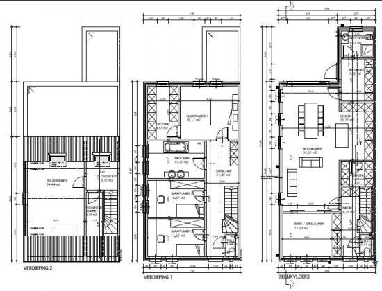 Badkamer In Slaapkamer Bouwen : grootte van je leefruimtes/kamers ...