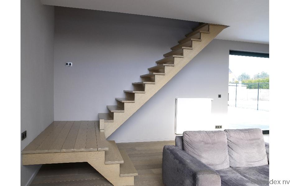 Welke trap moet ik kiezen bouwinfo Trap in woonkamer