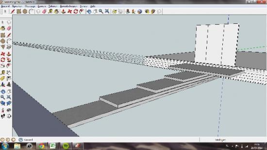 Constructies in voortuin oprit niveauverschillen for Luie trap afmetingen
