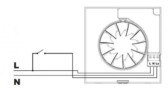 Ventilator aansluiten op lichtschakelaar – Aansluiten meterkast schema