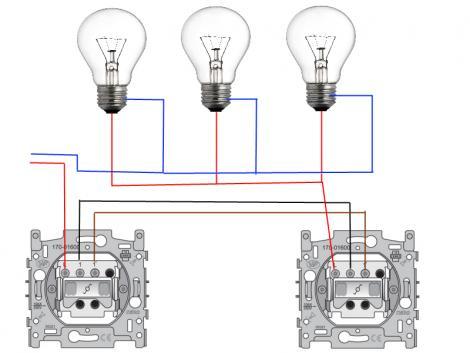 Wisselschakelaar met dimmer wisselschakelaar aansluiten for Lampen verbinden