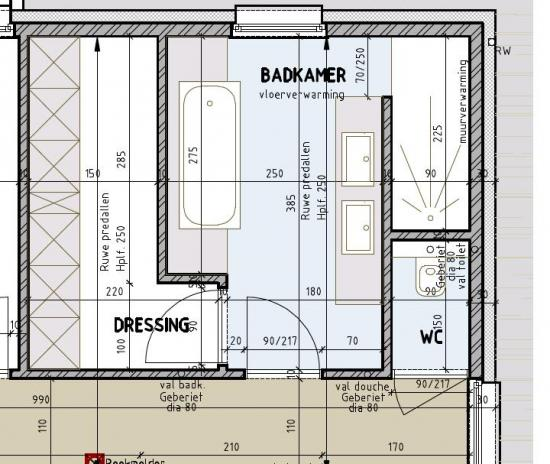 opstelling badkamer nieuwbouw bouwinfo On badkamer plan m