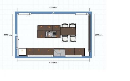 Kookeiland Ruimte Tussen : Keuken hoeveel plaats tussen kasten en eiland bouwinfo