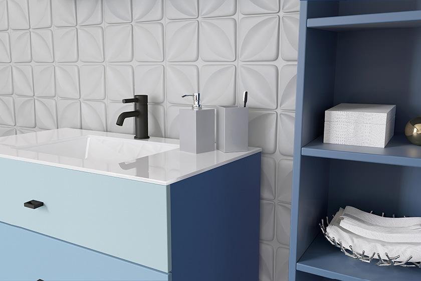 Stel zelf je eigen badkamermeubel samen bouwinfo for Teken je eigen badkamer