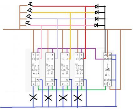 Teleruptor schakeling schema