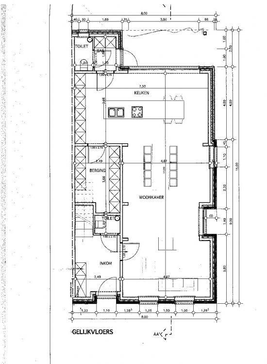 Waar schuifraam vast raam living keuken bouwinfo - Modern keukenplan ...