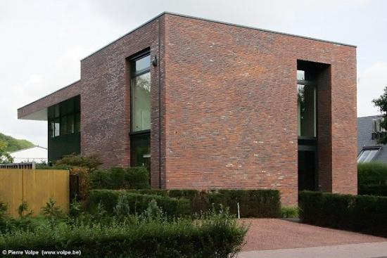 Welke gevelsteen bij alu zwarte ramen moderne woning bouwinfo - Moderne kleur huis ...