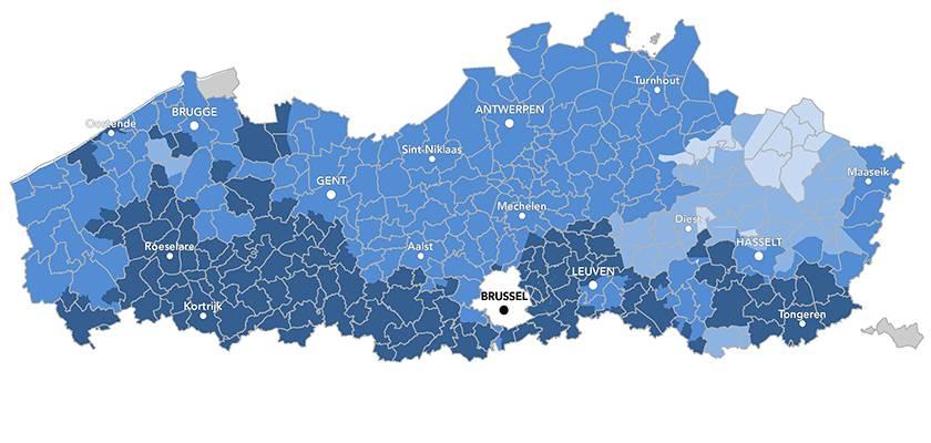 Hardheid van het water in Vlaanderen & Brussel