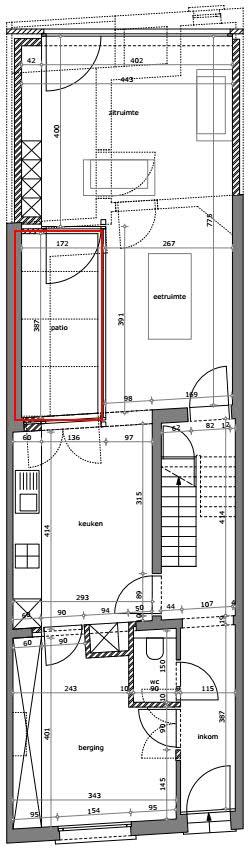 Keuken Verbouwen Planning : Patio in rijwoning Bouwinfo