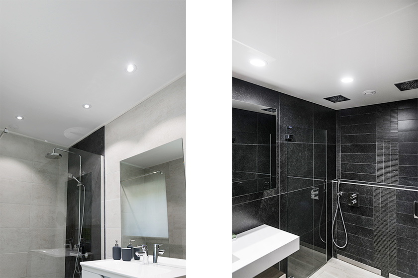 kan je een spanplafond ook in een badkamer plaatsen
