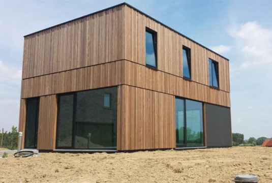 BUILDINX: microwoning van cross laminated timber