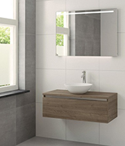 Wastafel met solid surface lavabo